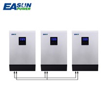 EASUNPOWER 80A MPPT Solar Inverter 15000W Hybrid Inverter 48V 220V Pure Sine Wave Inverter Off Grid Inverter 60A Battery Charger(China)