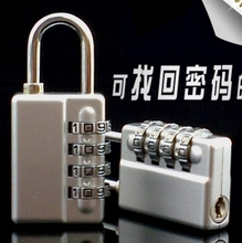 MMS62 new Zinc Alloy 4 group number code Can retrieve password padlock Multicolor used for door bicycle or boxes b(China)