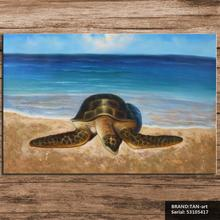 sea turtle Animal Mediterranean oil Painting Drawing art Spray Unframed Canvas Frameless square landscape islamic wax 53105417