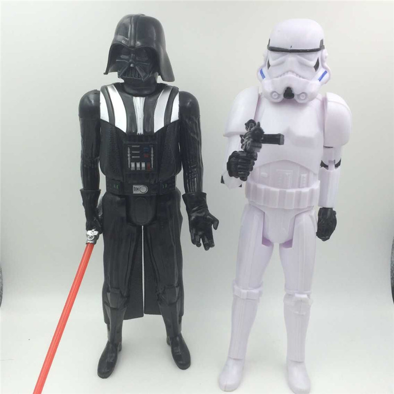 30cm Big Size Star Wars 7 Darth Vader &amp; Storm Trooper Anime Movie Action Figures Toys PVC Collection Doll for Kid chirstmas Gift<br><br>Aliexpress