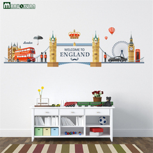 City Landscape European Romantic London Landscape Factory Direct Bedroom TV Wall Decoration Wall Stickers Wholesale