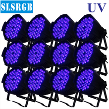 12pcs/lot Stage Par King 54pcs 3w UV led light par 64 54x3w Single COLOR UV LED Par 64 Lighting