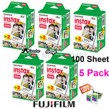 Original 100 Sheet Fuji Fujifilm Instax Mini 8 White Film Instant Photo Paper For Instant Camera Mini 9 70 SP-1 SP-2 + Free Gift(Hong Kong,China)