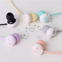 Candy Colour Cute Cartoon Lovely Little Ghost Skull Head CrossBones Halloween 3.5mm In-Ear Earphone With Microphone For Phones(China)