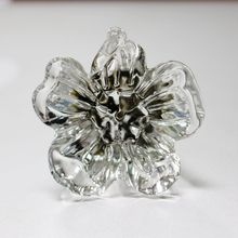 5PCS crystal Glass bedroom furniture knob cabinet drawer cupborad  door pull handle Knobs irregular flower single Hole knob