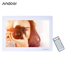 "Andoer 14"" LED Electronic Digital Photo Frame 1280*800 HD Picture Frame Clock Calendar MP3 MP4 Movie Player With Remote Control"