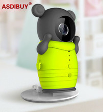 H.264 cute cartoon bear cover wifi IP Camera home security mini desk top easy set up network camera baby camera for smart phone