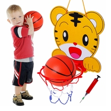 1 Set KAWO Children Basketball Shooting Practice Box Cartoon Animal Basketball Stand Exercise the Child's Athletic Ability