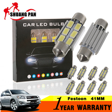 10pcs Car Festoon 36mm Reading Light CANBUS 6SMD 5630 SMD 3W Car Interior Bulbs c5w Dome Light License Plate Lights(China)