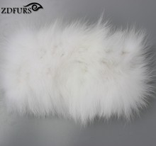 2016 Real Fur Headbands Genuine Fox Fur Scarf Knitted Warm Ear Protecter Headband 2016 Russia Fur Headwarps 4 Color in Stock(China)