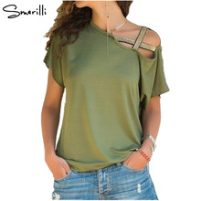 Buy One Shoulder Sequin T-Shirt Women Skew Neck Tee Short Sleeve T Shirt 2018 Summer Casual Streetwear Ladies Tops Tshirts Plus Size for $9.54 in AliExpress store