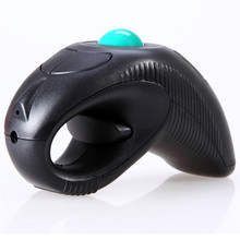 Malloon Mini Ergonomic Computer Mouse  2.4GHz USB Handheld Wireless Mouse 1000DPI Pointer Using Optical Trace Ball Laser Beam
