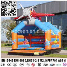 Airplane inflatable bounce bed, inflatable moonwalk for toddlers(China)