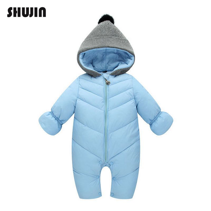 Cute Newborn Baby Boy Warm Hooded Romper Jumpsuit Suits Fluff Outfits Coat Gift