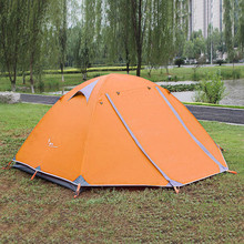 Flytop Outdoor Camping Hiking Tent Double Layer Aluminum Rod Camping Tents Two Person Travel Fishing Beach Gazebo Awning Tent