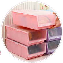 Special Offer Thick Colored Clamshell Dust Plastic ShoeBox Drawer Storage Box Boots Organizer Container Finishing Box
