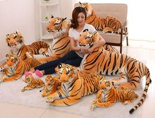 30cm/40cm/50cm length tiger plush toy, simulation tiger doll, tiger pillow children's day birthday gift
