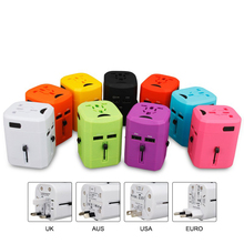 Universal Travel Adapter Power Socket with USB Electric Plugs Sockets Converter US/AU/UK/EU Travel Adapters USB Adaptor Plug