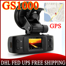 100pcs Car DVR GS1000 with GPS logger G-Sensor camera recorder Full HD 1080P 30fps Ambarella CPU H.264 IR Night Vision