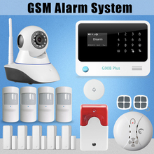 Etiger G908 Plus GSM SMS GPRS Autodi alarm system built-in rechargeable battery work with IP camera