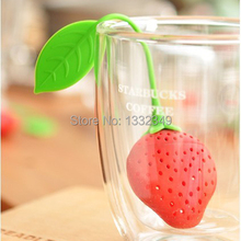 1pcs  Silicone Teacup Teapot Tea Infuser Bag Filter Strainer Strawberry Pear Design 6oik