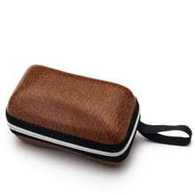 New Solid Eyewear Cap Glasses  Hard Case Box Portable Protector Black Sunglasses For Men and Women Lanyard Zipper 3095