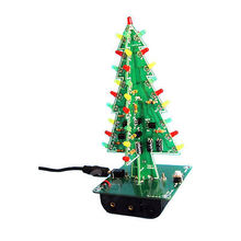 Christmas Trees LED DIY Kit Professional Flash Green Red LED Circuit