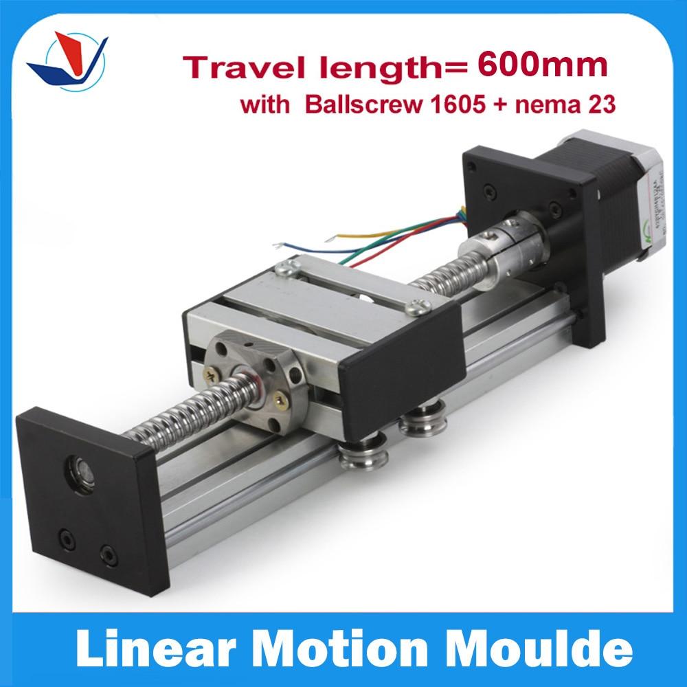 2016 Real Time-limited Linear Rail For Kossel Mini Cnc Kit Sfu1605 Linear Guide Rail 16 Cnc 600mm Stage + 23 Nema Stepper Motor <br><br>Aliexpress