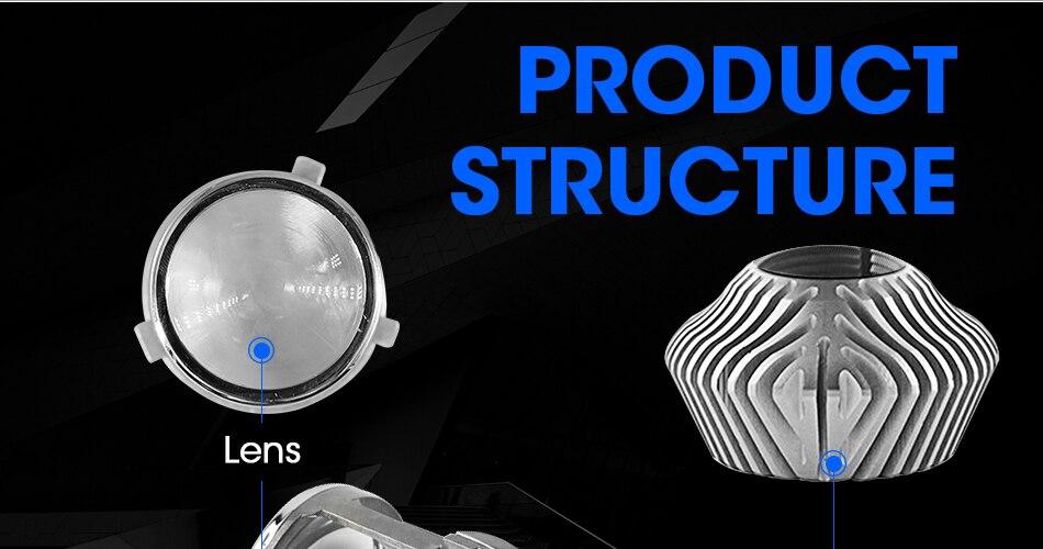 5 hlxg 70WPair H4 LED Mini Projector Lens Automobles LED Bulb LED Conversion Kit Lamp HiLo Beam Headlight 12V24V 5500K White