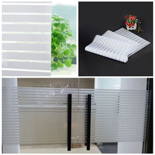 Glass Window Film Privacy Frosted Modern Stripe Self-adhesive Sticker Home Decor(China)