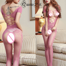 Buy Sexy Open Bust Crotch Fishnet Cross Erotic Latex Lingerie Teddy Bodysuit Stocking Baybydoll Teddy Underwear Sleepwear Jumpsuit