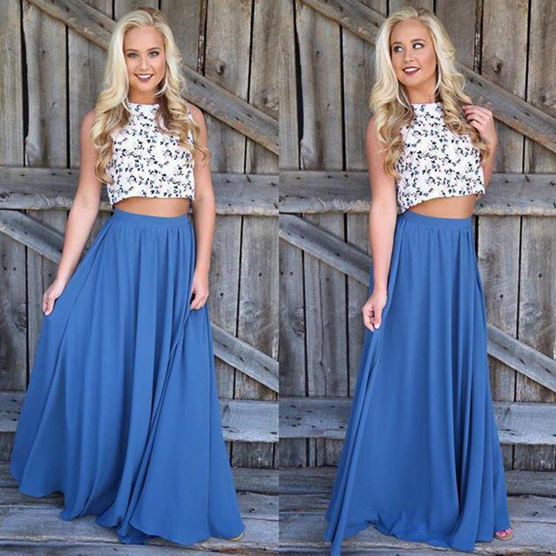 Long Skirt Elegant Women Summer High Waist Maxi Faldas Solid Color Blue Pink Female Clothes Floor Length Skirt LJ9774Y
