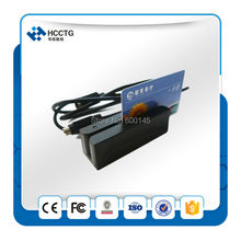 Smallest USB 3 tracks USB Lo/ Hi-CO Magnetic Stripe card reader +ID Credit Card Reader +Membership card reader +free SDK HCC750(China)