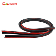 Cawanerl 1 Pair B-Shape 1.5 Meter Car Door B-Pillar Rubber Seal Strip Weatherstrip Noise Control Sealing Strip Edge Trim(China)