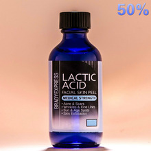 Best Quality LACTIC Acid Skin Peel 50% For Acne, Wrinkles, Melasma, Collagen Stimulation Free Shipping(China)