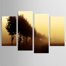 4 panel yellow sky sand city storm landscape painting canvas mural art home decoration living room canvas print modern painting
