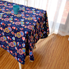 Latest High Grade Eco Tablecloth Cute Cartoon Animal Owls Table Linen Pink Yellow Flowers Floral Table Cover Dinner Desk Decor(China)