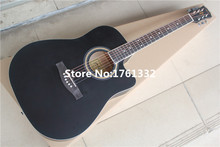 Special price factory custom 41-inch matt black  plywood acoustic guitar  for beginner,Can be customized on request. In Stock