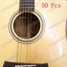 50 Pcs Transparent Clear Guitar Pickguard Pick Guard Anti-scratch Plate for Folk Acoustic Guitar (TM-YM-50)