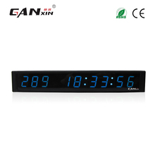 [Ganxin]Blue Color Hot Selling Table Led Clock For Meeting Indoor Use(China)