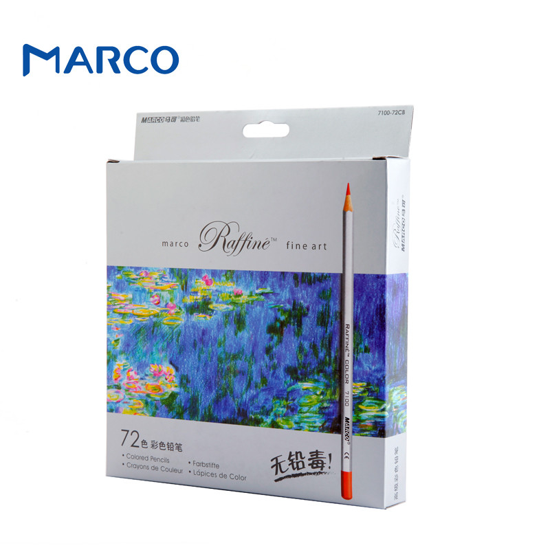 Marco 72pcs Color Pencil lapis de cor Professional Non-toxic Lead-free Colored Pencil School Supplies Painting Pencils<br><br>Aliexpress