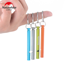Naturehike 3 Pcs Outdoor Survival Loud Whistle Aluminum Alloy Cheerleading Whistle Length 7cm 4 Colors