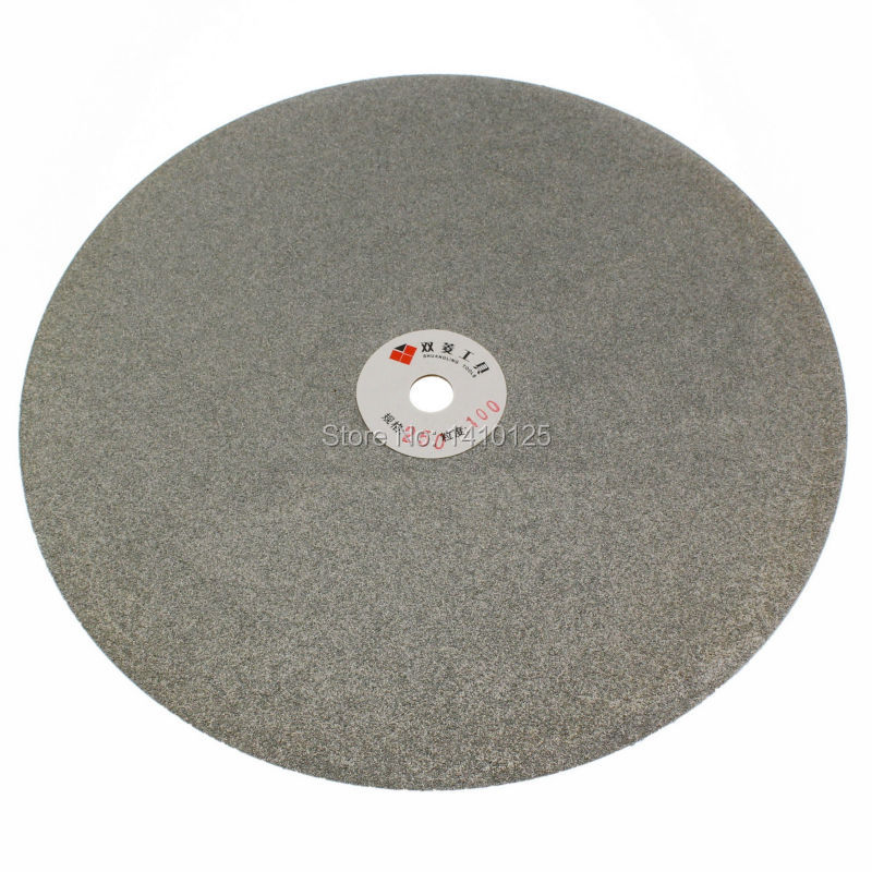 10 inch 250 mm Grit 100 Electroplated Diamond coated Flat Lap Disk Grinding Polishing Wheel Coarse Jewelry Glass Rock Ceramics<br>