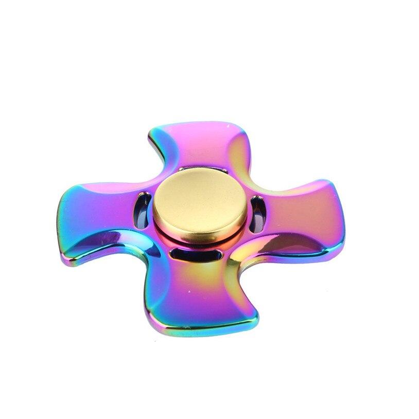 2017 New Rainbow EDC Hand Spinner Tri Fidget Focus Desk Toys Stocking Stuffer Kids/Adult hand spinner Gyro toys May 30