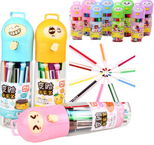 12-36/Set Colorful Washable Watercolor Pens Manga Graphic Drawing Non-toxic Kids Art Cartoon Design Markers Pen Student Drawing