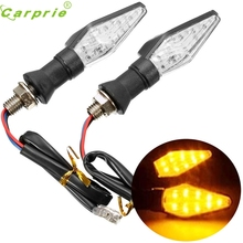 Dependable Fashion 1 pair Universal 12V 1W LED Motorcycle Turn Signal Indicators Lights lamp My20 dropshipping