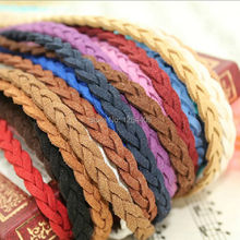 (3m/piece) 6mmx2.5mm DIY Jewelry Findings multilayer Flat Woven Velvet Braided cord Soft texture necklace&bracelets cords