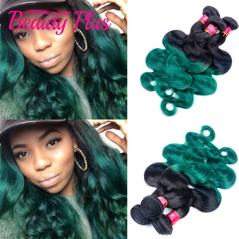 7A ombre green brazilian body wave 3pcs deep sea green brazilian virgin hair body wave teal hair extension black friday sales<br><br>Aliexpress