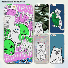 brand Cute Popular middle finger cat design transparent clear Cases Cover for Apple iPhone 6 6s Plus 7 7Plus SE 5 5s 4s 5c