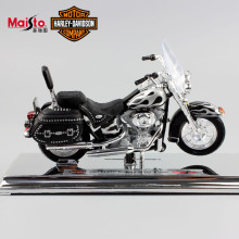 1:18 Scale Maisto Children Harley 2002 FLSTC Heritage Softail Diecast metal model motorcycle Racing cars motorbike toys for kids
